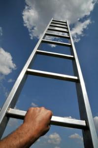 Karriereleiter hochsteigen